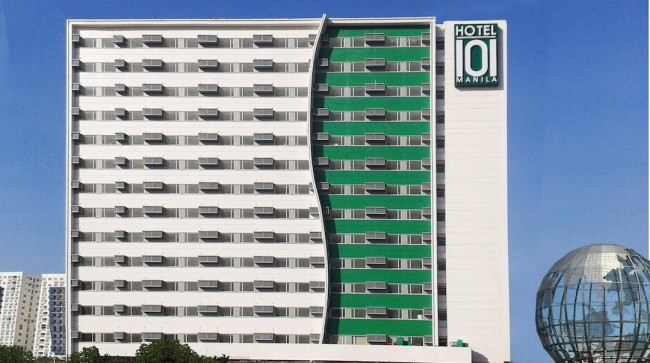 Guests will appreciate Hotel 101's convenient location at the Mall of Asia complex in Pasay City. Photo courtesy of Hotel 101.