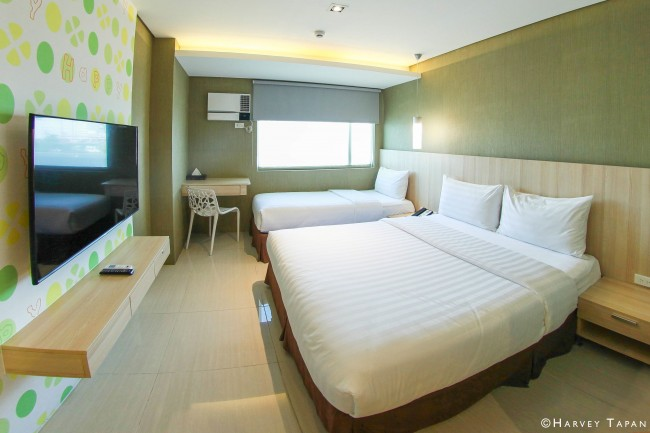 One of the 518 Happy Rooms at Hotel 101. Photo courtesy of the hotel.