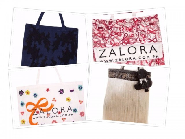 Top online fashion site Zalora has collaborated with couture designers to create bags that are being sold for a charitable cause. In photo, clockwise from top left, are creations by Furne One, Jojie Lloren, Ezra Santos, and Dennis Lustico. Photos courtesy of Zalora.