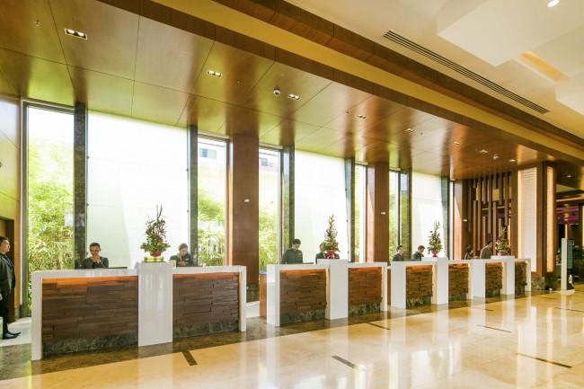 The hotel's grand lobby. Widus Hotel and Casino in Clark, Pampanga. Photo courtesy of the hotel.