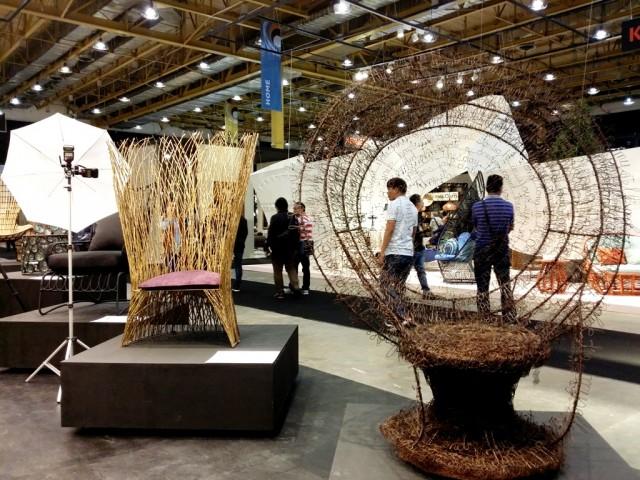 Different designers reinterpret the iconic peacock chair.  Photo by Romsanne Ortiguero, InterAksyon.
