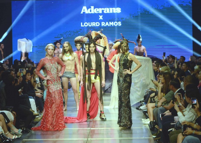 Models present hairstyles by Lourd Ramos in collaboration with wig and hairpiece supplier Aderans. Ramos gave the presentation at Manila Fashion Festival, October 21, 2016. Photo by Peter C. Marquez, InterAksyon.