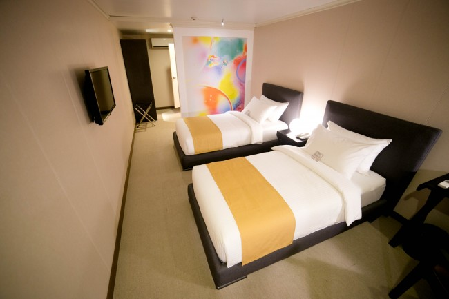 Efficiently designed room at Hotel at Green Sun in Makati City. Photo courtesy of the hotel.