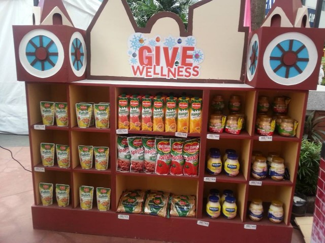 Detail of the pop-up grocery by Robinsons Supermarket for its Give Wellness fair, November 5 to 6, 2016. Photo by Francine M. Marquez, InterAksyon.