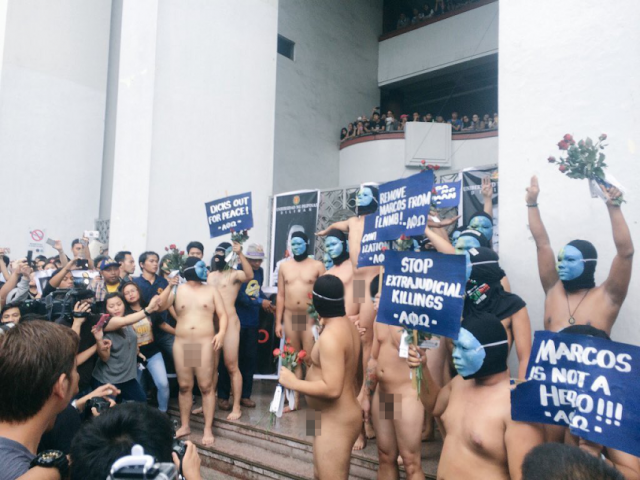 Members of the APO faternity gather at the annual Oblation Run i UP Diliman, November 25, 2016. Photo published with permission from Noel Cuenca @totoheart on Twitter.
