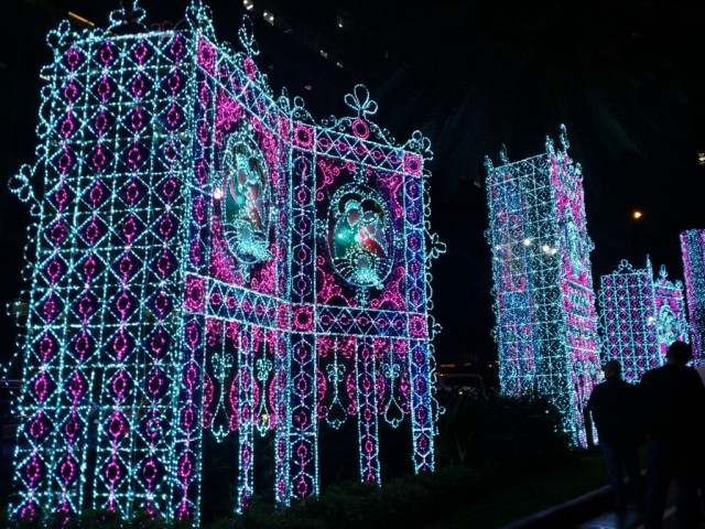 The large installations in detail. Photo by Romsanne Ortiguero, InterAksyon.