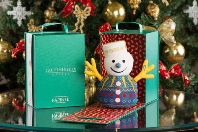 SnowPage plush toy by Papinee. Photo courtesy of  The Peninsula Manila.