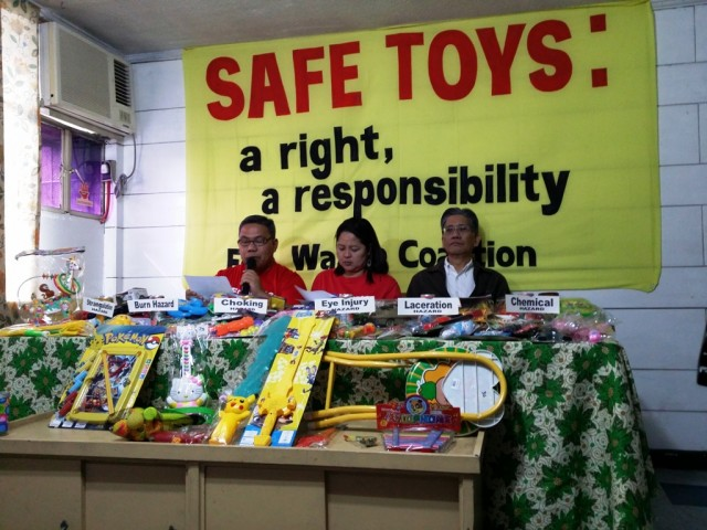 "For Ecowaste Coalition, the start of December signals the start of their ""Kid-Safe Toys for Zero Harm, Zero Waste"" campaign. Photo by Romsanne Ortiguero, InterAksyon."