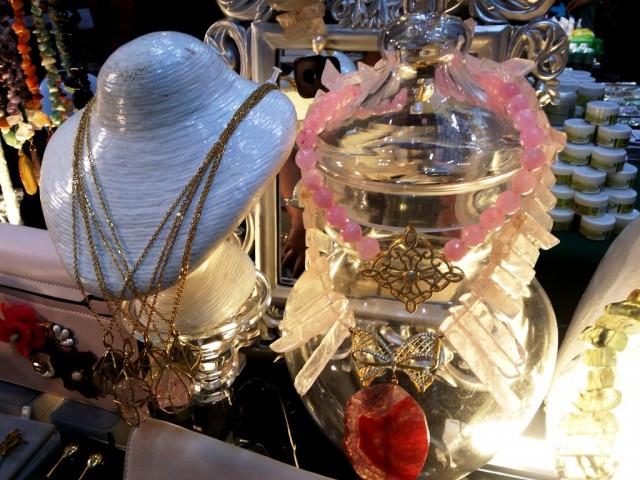 On the right most is Mjorian's rose quartz necklace. Photo by Romsanne Ortiguero, InterAksyon.
