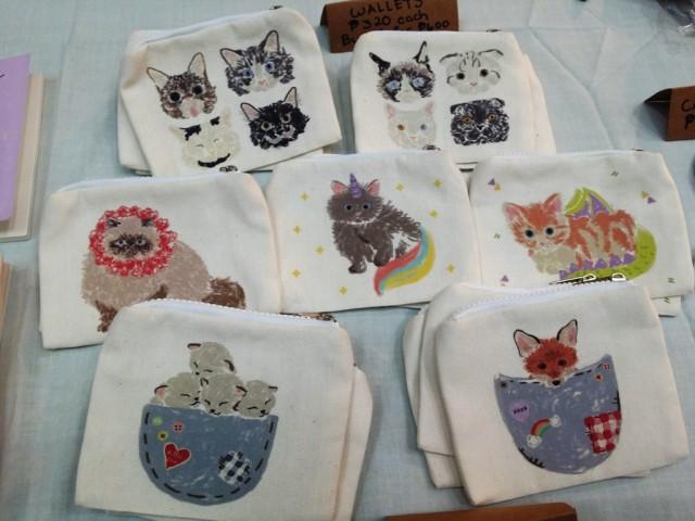 Cute purses with illustrations by Marcela Suller. Photo by Romsanne Ortiguero, InterAksyon.