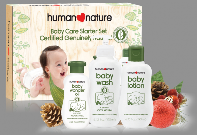 Baby Care Starter Set (Php459.25). Photo courtesy of Human Nature.