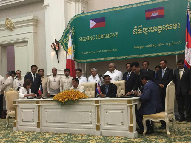 Officials from the Philippines' Department of Tourism and the Ministry of Tourism of the Kingdom of Cambodia participate in the signing of a tourism pact that aims to revitalize tourism relations between the two countries. Photo courtesy of DOT.