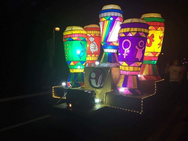 "UP Diliman celebrates Lantern Parade this year with the theme ""Himig ng Diliman, Hagkan ang Gabi."" The parade, held December 16, 2016, also signals the university's holiday break. Photo by Loreen Ordono, InterAksyon."