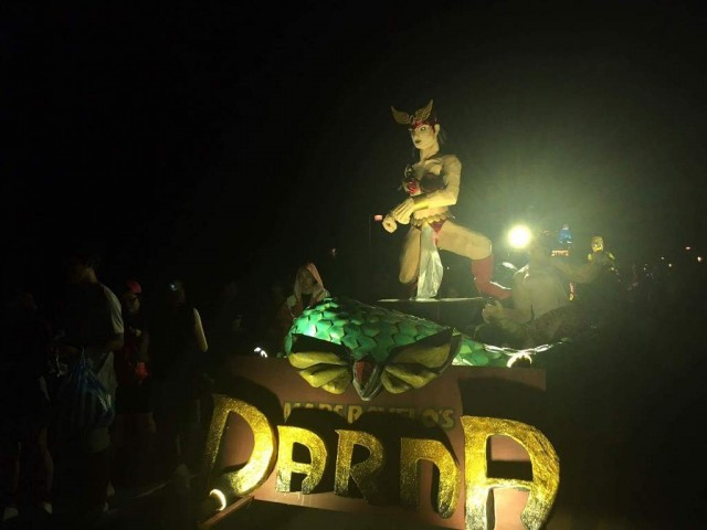 The College of Fine Arts chose Filipino comics as inspiration for this year's Lantern Parade, December 16, 2016. Photo by Loreen Ordono, InterAksyon.