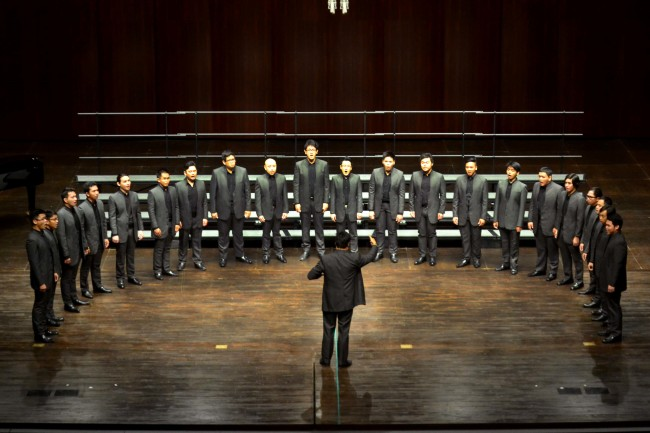 Aleron all-male choir goes on tour in Europe in 2017. Photo courtesy of Aleron.