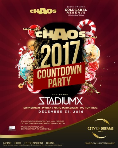 Chaos club at City of Dreams Manila celebrates the New Year with a 'Candyland'-themed party. Image courtesy of COD Manila.