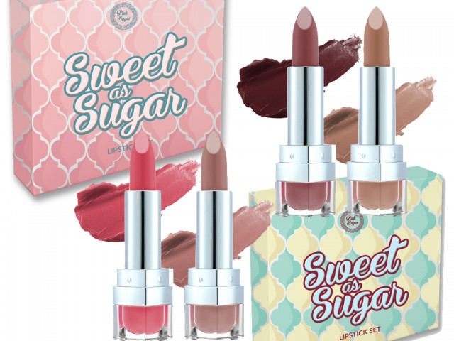 Sweet as Sugar lipstick sets includes 2 lipsticks that suit all morenas.