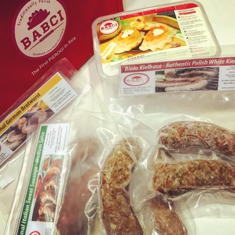Babci Kuchnia's Polish sausages and dumplings. Chow Buzz photo for InterAksyon.