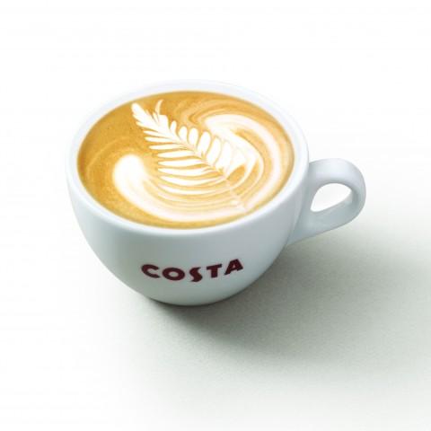 Costa Coffee's signature Flat White. Photo courtesy of Costa Coffee.
