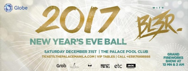 Make you New Year's eve celebration unforgettable, and party the night away at this ball. Image sourced from The Palace Pool Club's Facebook page.