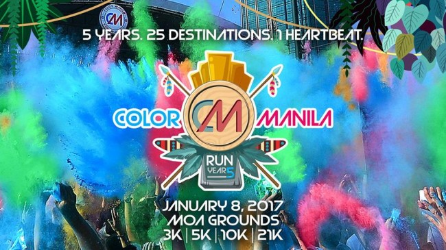 Join the most colorful fun run event this Sunday. Image sourced from Color Run Manila's Facebook page.