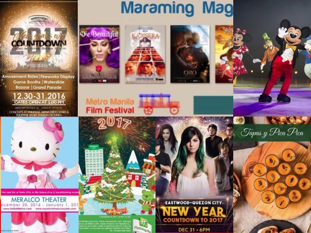 Greet the year 2017 with the metro's list of fun activities to enjoy with friends and family.