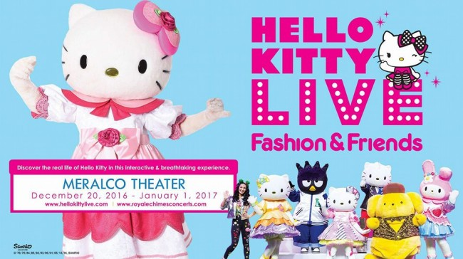 See well-loved Hello Kitty and her friends in htis show that is perfect for the family and friends. Image sourced from Hello Kitty Live – Fashion & Friends' Facebook event's page.
