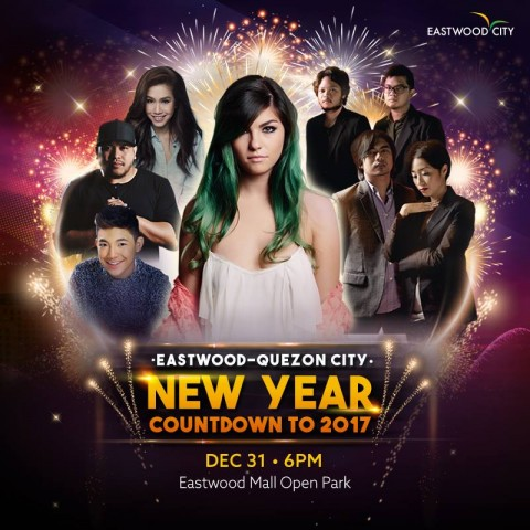 Welcome 2017 with loud music and fun performances. Image sourced from Eastwood Mall's Facebook page.