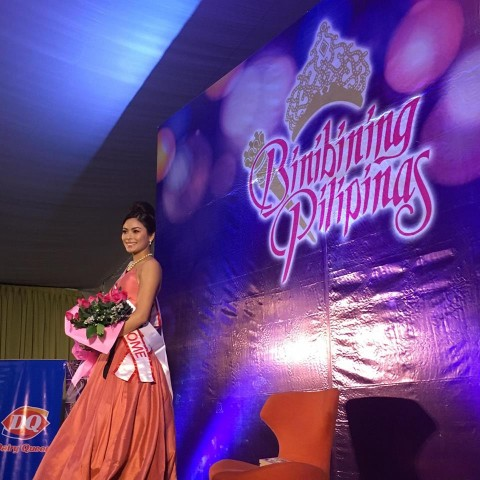 Miss Universe Philippines Maxine Medina during her send off event hosted by the Binibining Pilipinas Charities Inc. Photo byBea Antonio, InterAksyon.