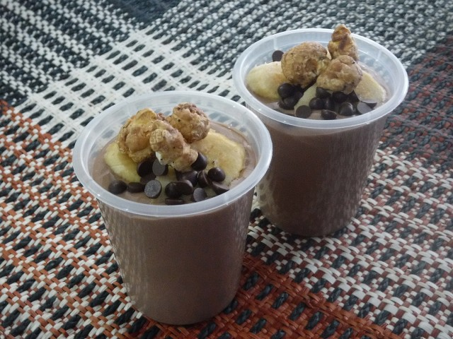 Chocolate Hazelnut and Banana Mousse from a recipe by top pastry chef Jill Sandique. Photo by Dolly Dy-Zulueta, InterAksyon.
