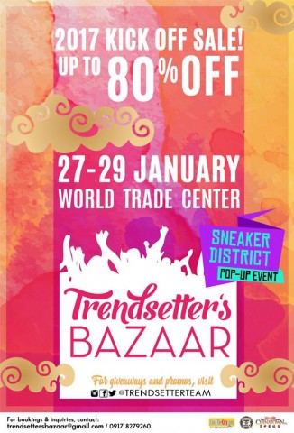 Enjoy up to 80% discount on unique items sold at this bazaar. Image sourced from Trendsetter's Bazaar's Facebook page.