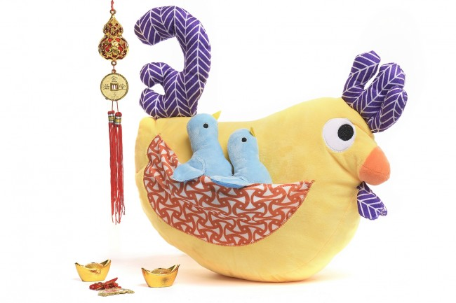 This colorful plush rooster toy is now available at Toy Kingdom. Photo courtesy of SM.