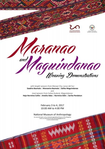 Discover the rich weaving traditions of the Maranao and Maguindanao through this event. Image sourced from National Museum's Facebook page.