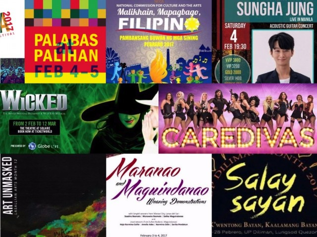 Celebrate your love for the arts by checking out musicals and cultural festivals happening this weekend, February 3 to 5, 2017.