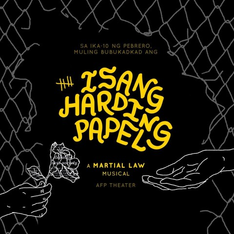 This musical is adapted from the Adarna House children's book by Augie Rivera. Image sourced from Hinabing Haraya's Facebook page.
