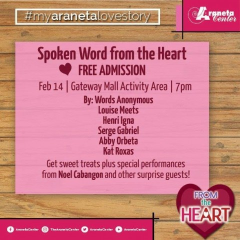 Let your Valentines night be filled with music and poetry. Image courtesy of Araneta Center.