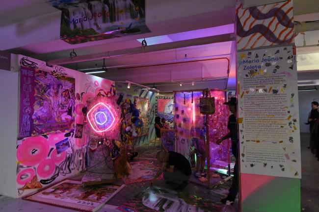 Maria Jeona Zoleta's mixed media installation. Photo by Peter Marquez, InterAksyon.