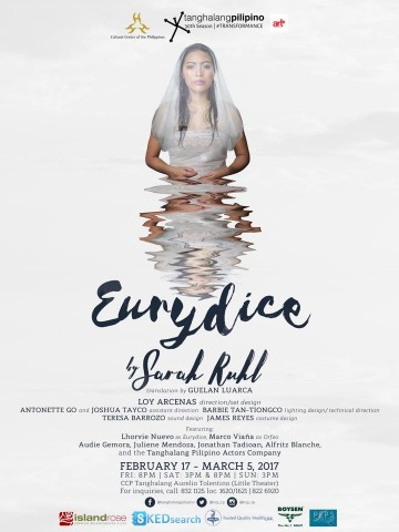 Eurydice claims not to be your typical love story to watch this heart's month. Image sourced from Tanghalang Pilipino's Facebook page.