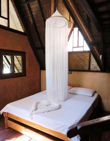 View of the room inside a bungalow at Deep Moon Resort in Port Barton, Palawan. Photo by Jona Branzuela Bering for InterAksyon.