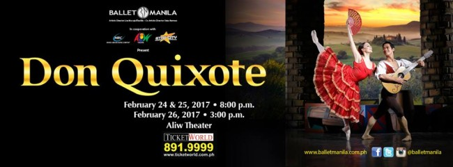 Don Quixote, a masterpiece in the world of classical ballet, is Ballet Manila's last production for its 21st season. Image sourced from Ballet Manila's Facebook page.