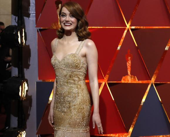 Best Actress nominee Emma Stone arrives at the 89th Academy Awards in Hollywood, California, February 26, 2017 (US time).  REUTERS/Mario .Anzuoni.
