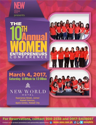 Learn fresh entrepreneurial ideas at this conference featuring empowered women. Image sourced from Network for Enterprising Women's Facebook page.