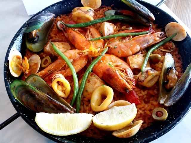 Chef Sarthou's paella. Photo by Romsanne Ortiguero, InterAksyon.