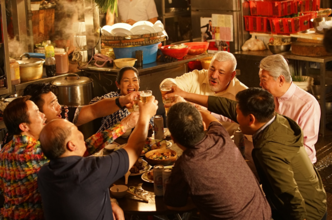 Chef Umberto Bombana (in white shirt) is shown in Hong Kong Tourism Board's 'Tasting the Town' video with other culinary personalities from the region, including Filipino and Asia's Best Female Chef for 2016 Margarita Fores. Photo courtesy of HKTB.