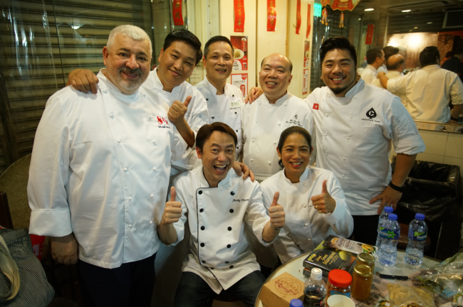 Chef Umberto Bombana (in photo, extreme left) poses with other culinary celebrities from the region, including Asia Best Female Chef 2016 Margarita Fores of the Philippines. Chef Bombana stars in the Hong Kong Tourism Board's newest campaign video titled 'Tasting the Town.' Photo courtesy of HKTB.