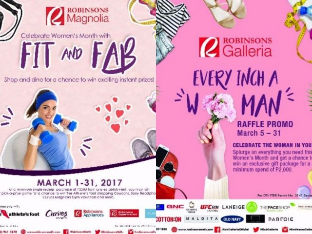 Robinsons Malls celebrates International Women's Month with a series of fairs and raffle promos. Images courtesy of Robinsons Malls.