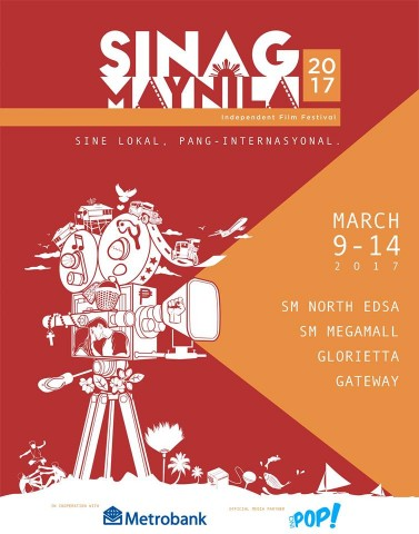 Don't miss this festival that aims to support local independent cinema. Image sourced from Sinag Maynila's Facebook page.