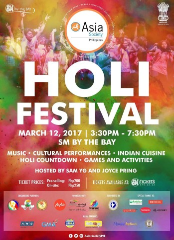 The biggest and vibrant Hindu festival of colors celebrated in India is also being celebrated in Manila. Image sourced from Asia Society Philippines' Facebook page.