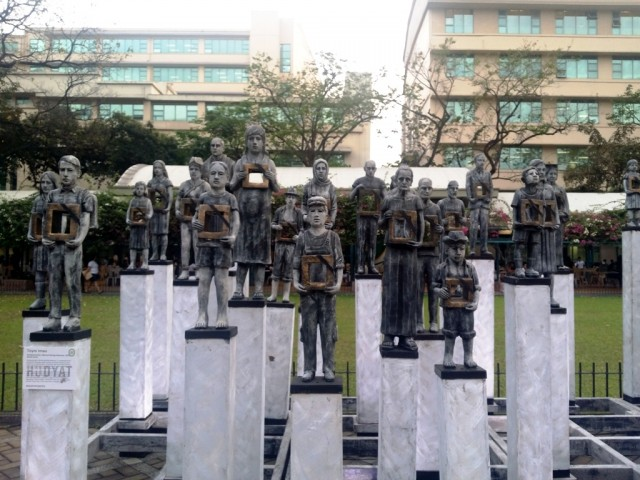Toym Imao's 'Desaparecidos: Memorializing Absence.' Photo by Romsanne Ortiguero, InterAksyon.