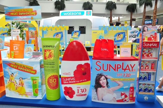 Watsons organizes a shopping fair at Mall of Asia featuring its top brands for sun protection and skin care. Photo courtesy of Watsons Philippines.